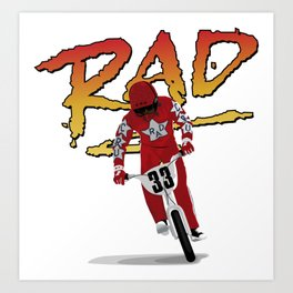 Cru Jones is Rad Art Print