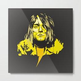 Kurt C from Nirvana Metal Print