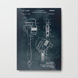 1960 - Close quarter ratchet pipe wrench Metal Print