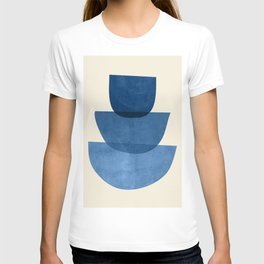 Abstract Shapes 37-Blue T-shirt