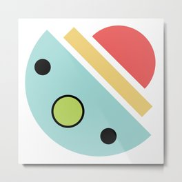 Chatty spaceship Metal Print