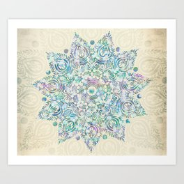 Mermaid Dreams Mandala Art Print