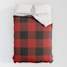 Western Country Woodland Christmas Cottage Primitive lumberjack Buffalo Plaid Comforters