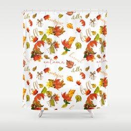 Autumn Leaves Hello Fall! Shower Curtain