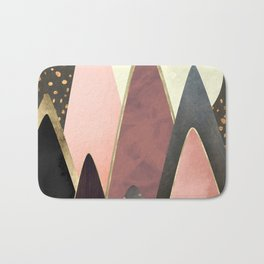 Pink and Gold Peaks Bath Mat