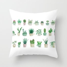 Tiny garden Throw Pillow