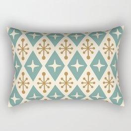 Mid Century Modern Atomic Triangle Pattern 102 Rectangular Pillow
