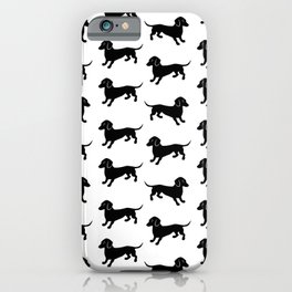 Dachshund Pattern iPhone Case