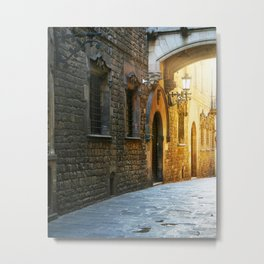 Barcelona - Early Morning in the Barrio Gotico Metal Print