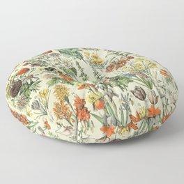 Adolphe Millot Vintage Fleurs Flower 1909 Floor Pillow