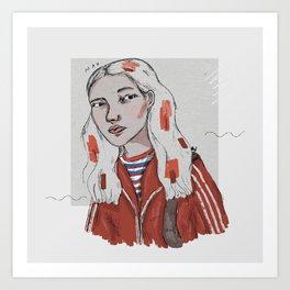 The Dig Dug Girl Art Print