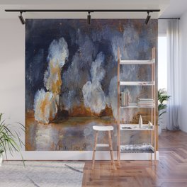 Johan Christian Dahl Smoke from Cannon Shots Wall Mural