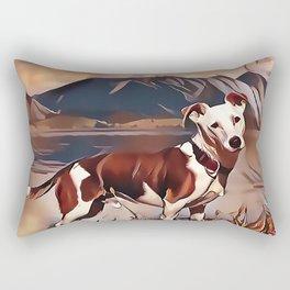 Hunting Dog by the Lake Rectangular Pillow