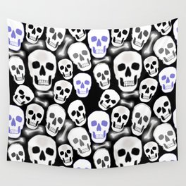 Small Tiled Skull Pattern Wall Tapestry