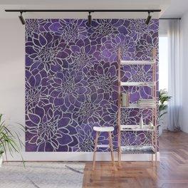 Dahlia Flower Pattern 3 Wall Mural