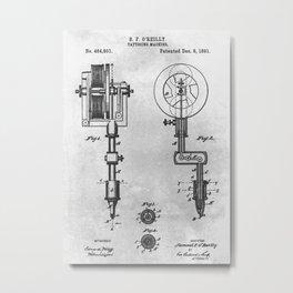 1891 Tattooing machine Metal Print