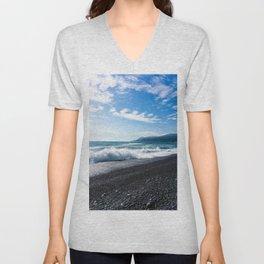 Black Sands Beach Unisex V-Neck