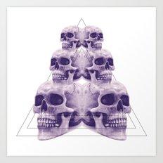 ☠ 6 skulls ☠ Art Print