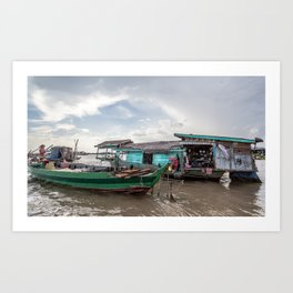 Chong Khneas Floating Village VIII, Siem Reap, Cambodia Art Print