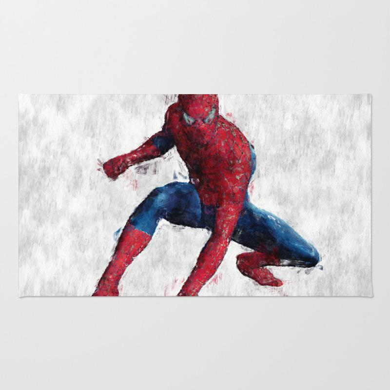 Spider Man Hero Rug by Colorandpatterns RUG7425502