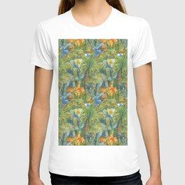 africa pattern elephant T-shirt