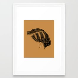 Crown: Flat Twists Framed Art Print