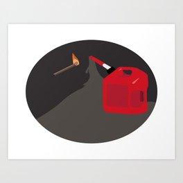 Burn it to Hell Art Print