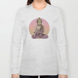 Buddha with cat 6 Long Sleeve T-shirt
