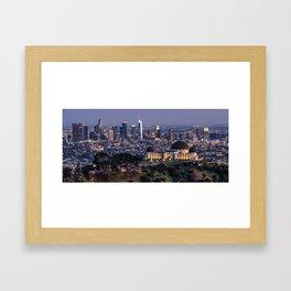 LA City Lights Framed Art Print