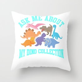Dino Collection Dinosaur Fan Reptiles Passion Throw Pillow
