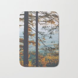 Earthscape Landscape Photography Tall Autumn Fall Trees Overlooking Fields Bath Mat