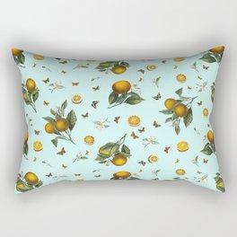 Oranges and Butterflies on Mint Rectangular Pillow