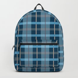 AFE Blue Plaid Pattern Backpack
