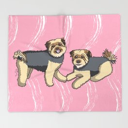 Pip and Maddie Throw Blanket