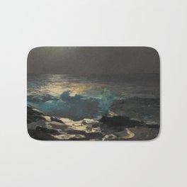 Moonlight, Wood Island Light by Winslow Homer, 1894 Bath Mat