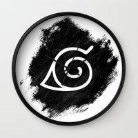 naruto Wall Clocks featuring Naruto by Bradley Bailey