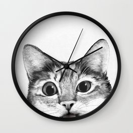 silly cat Wall Clock