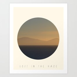 Lost In The Haze Art Print