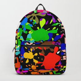 Colourful Fun Paint Blots and Stains Backpack