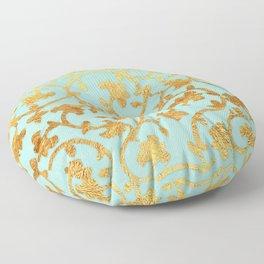 Golden Damask pattern Floor Pillow