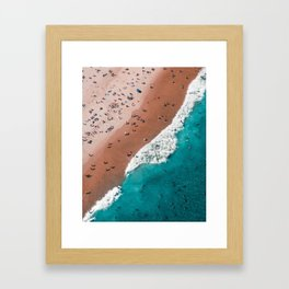 Surfers Surfing Bondi Beach Framed Art Print