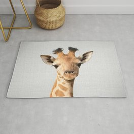 Baby Giraffe - Colorful Rug