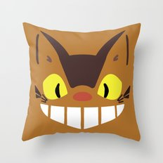 Catbus Throw Pillow