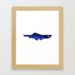 Blue fish Framed Art Print