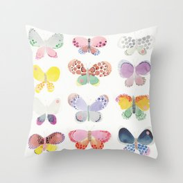 Painted butterflies Throw Pillow
