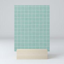 Small Grid Pattern - Light Blue Mini Art Print
