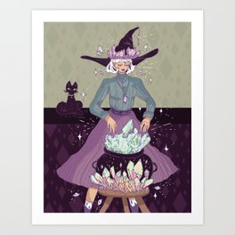Crystal Witch Art Print