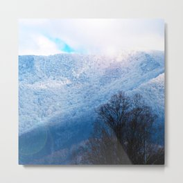 Winter Mountain Metal Print