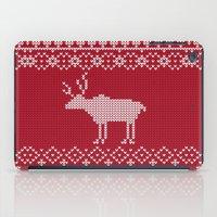 reindeer iPad Cases featuring  Reindeer by Julia Badeeva