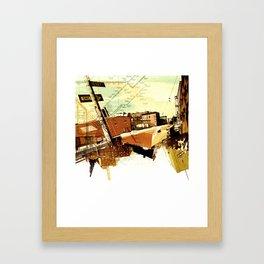 One way to Brooklyn, NY Framed Art Print